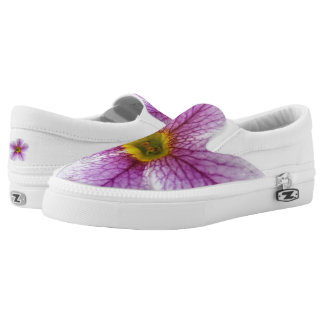 Purple Flower Toes Printed Shoes