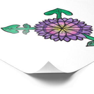 Purple Flower Transgender Symbol Art Photo