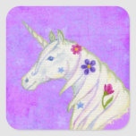 Purple Flower Unicorn sticker