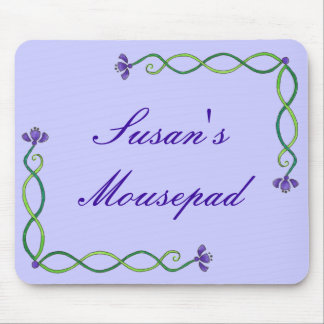 Purple Flower Vine Mouse Mat