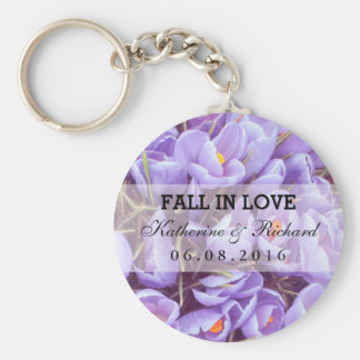 Purple Flower Wedding and Bridal Shower Keychain