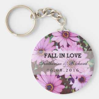 Purple Flower Wedding Favors Thank You Keychain