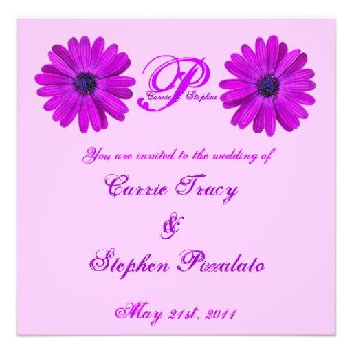 purple flower wedding invitations 13 cm x 13 cm square invitation card zazzle. Black Bedroom Furniture Sets. Home Design Ideas