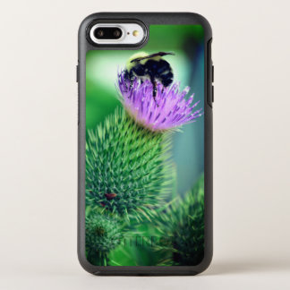 Purple Flower with Bee OtterBox Symmetry iPhone 8 Plus/7 Plus Case