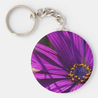 purple flower with pollen keychain