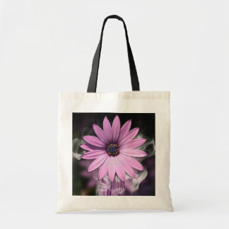 Purple Flower With Smoke: Tote Bag