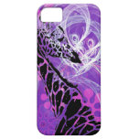 Purple Flowered Giraffe Barely There iPhone 5 Case