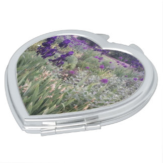 Purple flowers at Cambridge Botanical Gardens Vanity Mirror
