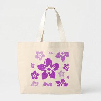 purple flowers canvas bags