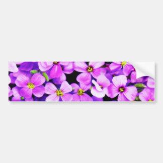 Purple Flowers Bumper Stickers