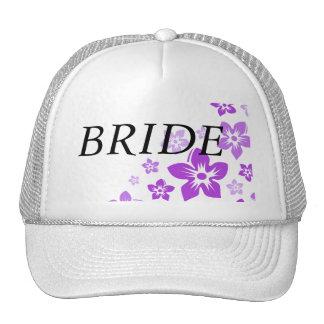 purple flowers cap