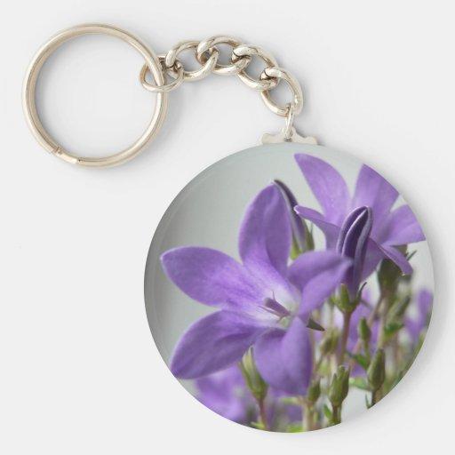 Purple Flowers Close Up Photo Key Chains