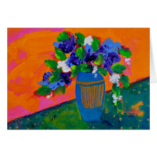 Purple Flowers contemporary gift card