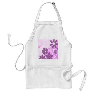 Purple Flowers Daisy Floral Photo Design Apron
