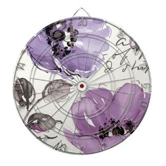 Purple Flowers Dartboard