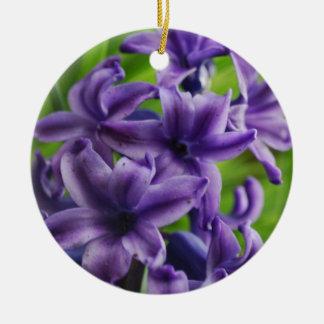 Purple Flowers Ornaments