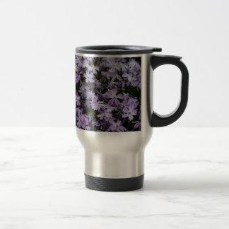 Purple Flowers Flox Flower Designed Stainless Steel Travel Mug