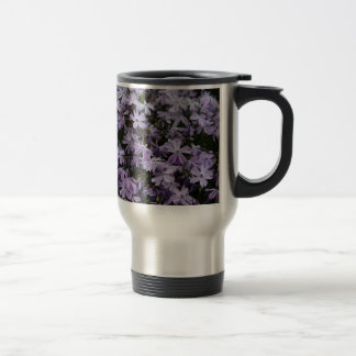Purple Flowers Flox Flower Designed Travel Mug