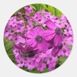 Purple Flowers from San Francisco Sticker
