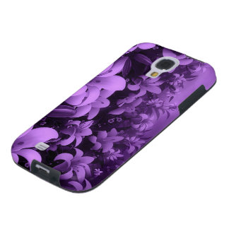 purple flowers galaxy s4 case