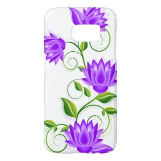 Purple Flowers Illustration On White