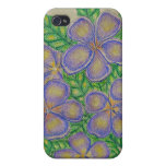 Purple Flowers iPhone 4 Covers