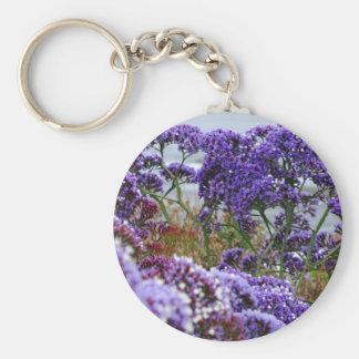Purple Flowers Key Chain