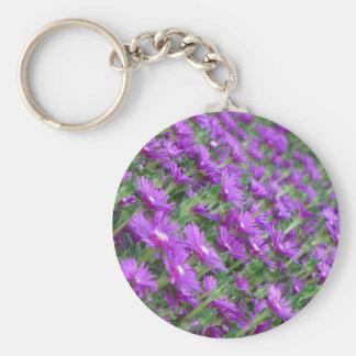 Purple flowers keychains