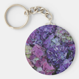 Purple Flowers Key Ring