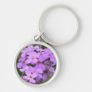 Purple Flowers Keychain