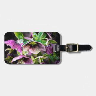 Purple Flowers Luggage Tags