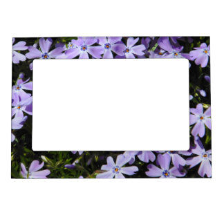 Purple Flowers Magnetic Frame