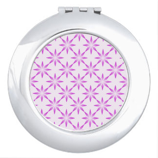 Purple flowers makeup mirrors