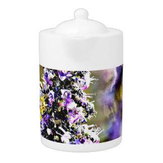 Purple Flowers Medium Tea Pot