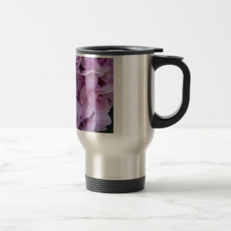 Purple flowers stainless steel travel mug