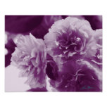 Purple Flowers on a Table Photographic Print