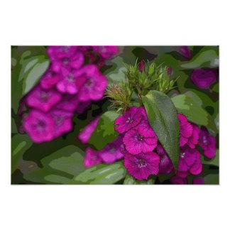 Purple Flowers Photo Art