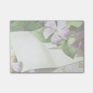 Purple Flowers Post-it Notes