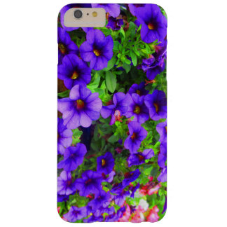 Purple Flowers Red & Green Iphone Case