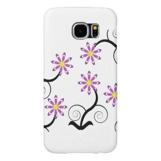 Purple Flowers Samsung Galaxy S6 Cases