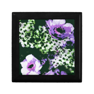 Purple Flowers Small Square Gift Box