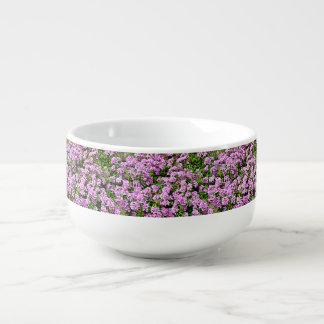 Purple Flowers Soup Bowl