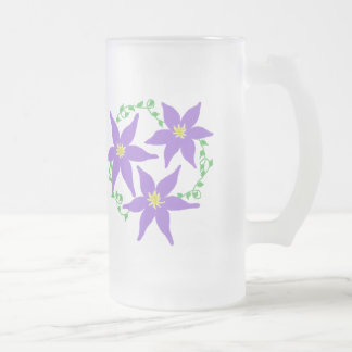 Purple Flowers Stein Coffee Mug