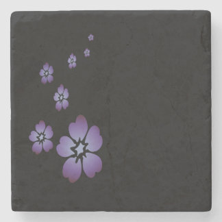 Purple Flowers Stone Coaster