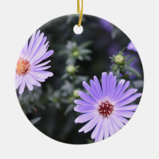 Purple Flowers Summer Nature Photography Floral Christmas Ornament
