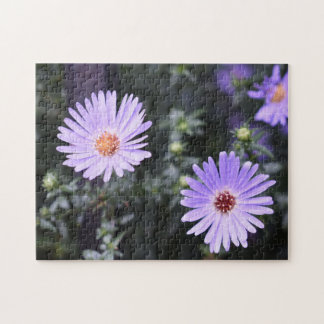 Purple Flowers Summer Nature Photography Floral Jigsaw Puzzle