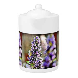Purple Flowers Tea Pot