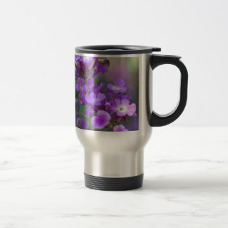 Purple Flowers Travel Mug