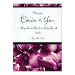 Purple Flowers wedding invitation