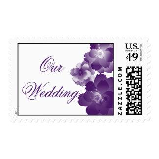 Purple Flowers Wedding Postage